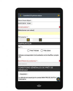 Tablette avec formulaire numérique Flexio