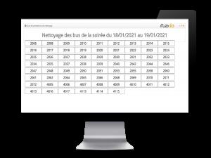 gestion de nettoyage dashboard Flexio