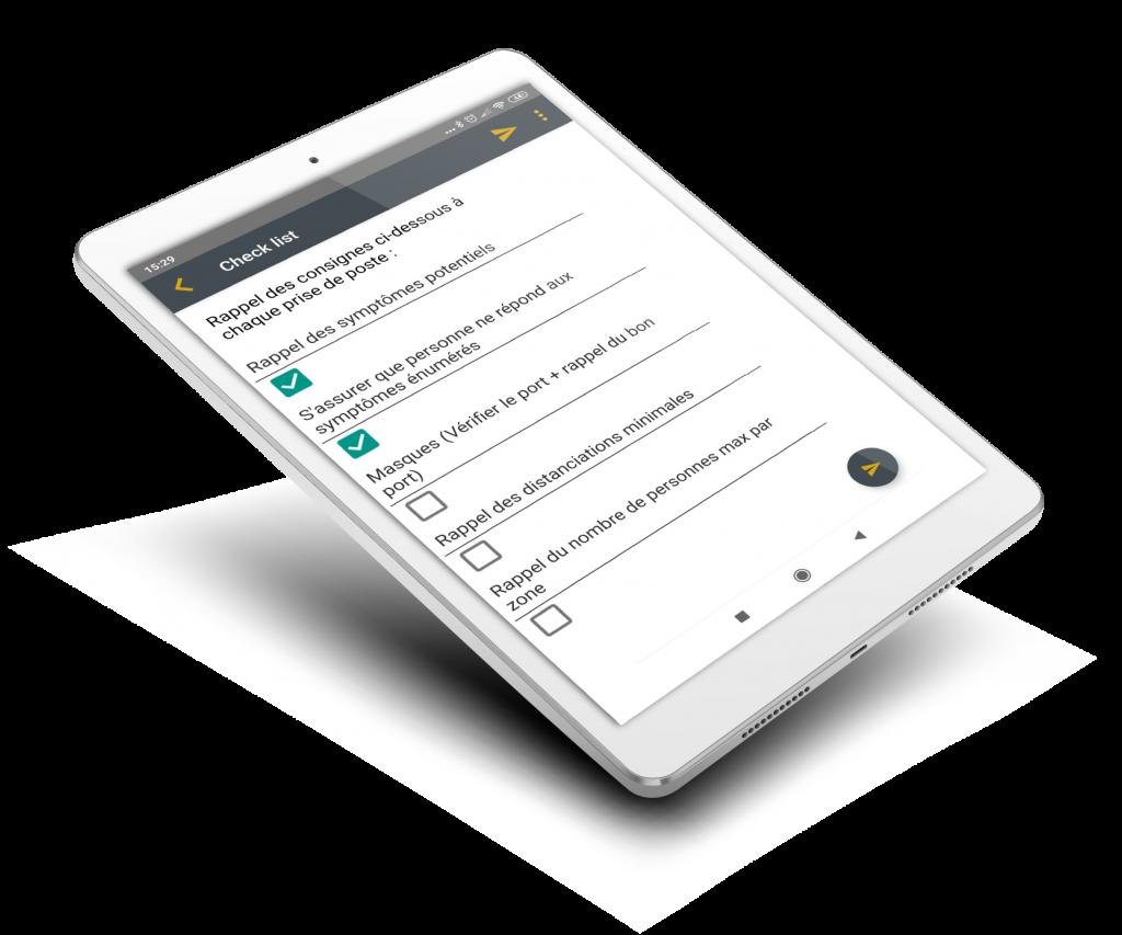 Check list tablette Flexio s'adapter grâce au no code