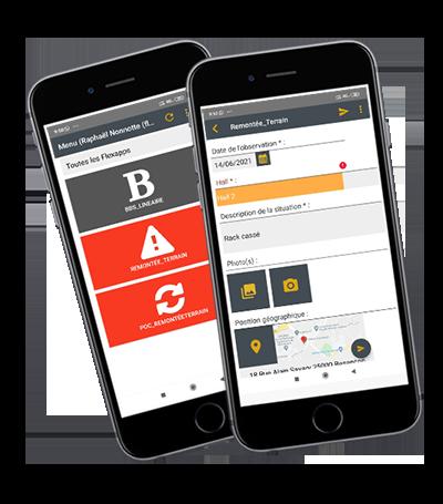 formulaire amélioration application Flexio